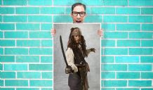 Captain Jack Sparrow Johnny Depp  - Wall Art Print Poster   -  Poster Geekery